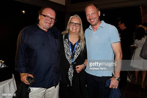 Stefan Arndt Manuela Steht and Johann von Buelow attend the NRW reception during the 73rd Venice Film Festival at on September 2 2016 in Venice Italy