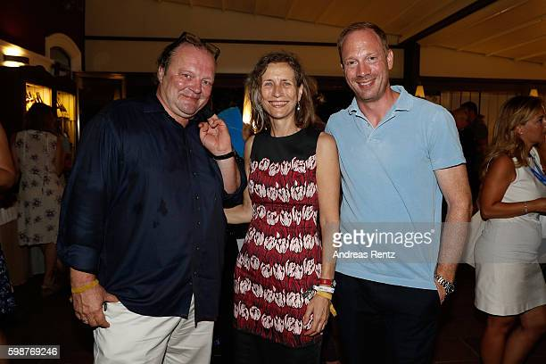 Stefan Arndt Mariette Rissenbeek and Johann von Buelow attend the NRW reception during the 73rd Venice Film Festival at on September 2 2016 in Venice...