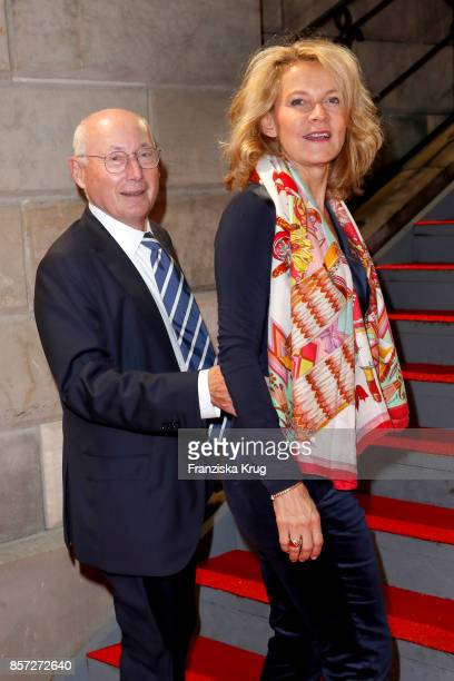 Stefan Aust and his wife Katrin HinrichsAust attend the ReOpening of the Staatsoper Unter den Linden on October 3 2017 in Berlin Germany