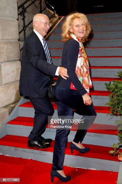 Stefan Aust and his wife Katrin Hinrichs-Aust attend the Re-Opening of the Staatsoper Unter den Linden on October 3, 2017 in Berlin, Germany.