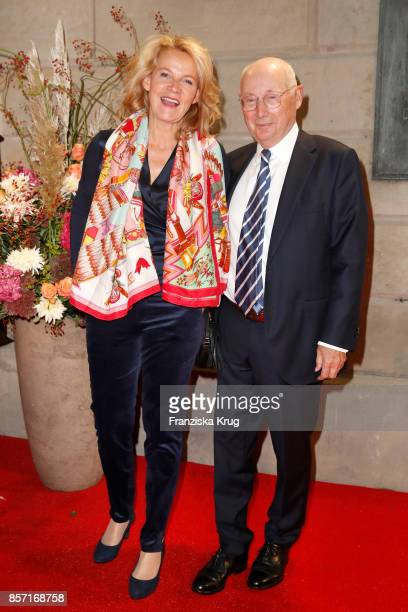 Stefan Aust and his wife Katrin HinrichsAust attends the ReOpening of the Staatsoper Unter den Linden on October 3 2017 in Berlin Germany