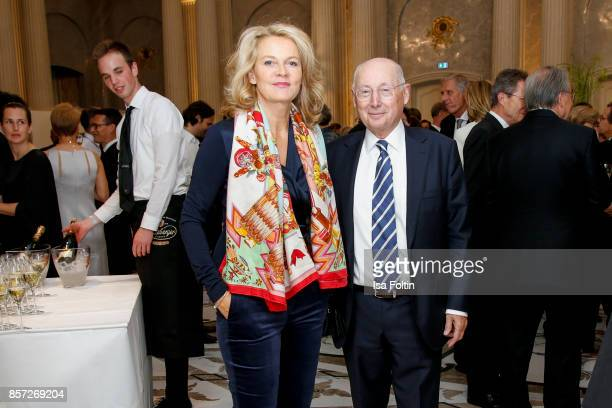 Stefan Aust and his wife Katrin HinrichsAust during the ReOpening of the Staatsoper Unter den Linden on October 3 2017 in Berlin Germany