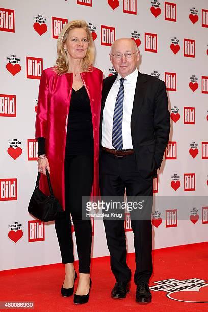 Stefan Aust and Katrin HinrichsAust attend the Ein Herz Fuer Kinder Gala 2014 Red Carpet Arrivals on December 6 2014 in Berlin Germany