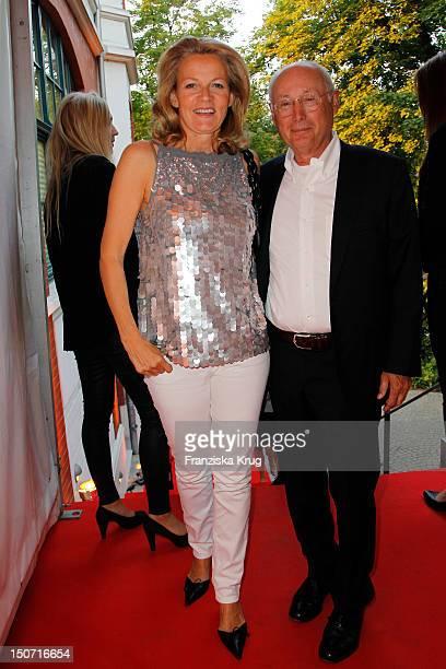 Stefan Aust and Katrin Hinrichs-Aust attend the Nacht Der Medien at Hotel Suellberg on August 24, 2012 in Hamburg, Germany.