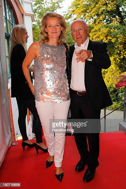 Stefan Aust and Katrin HinrichsAust attend the Nacht Der Medien at Hotel Suellberg on August 24 2012 in Hamburg Germany