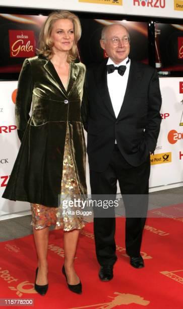 Stefan Aust and Katrin HinrichsAust during 2007 Die Goldene Kamera Awards Arrivals at AxelSpringerVerlag in Berlin Berlin Germany