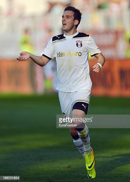 Stefan Barboianu of FC Astra Ploiesti in action during the Romanian First Division match between FC Petrolul Ploiesti and FC Astra Ploiesti held on...