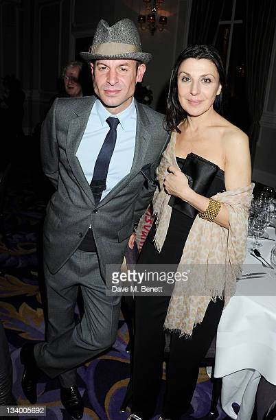 Stefan Bartlett and Allegra Donn attend a dinner hosted by Pablo Ganguli and Ella Krasner in celebration of the Liberatum 10th Anniversary and in...
