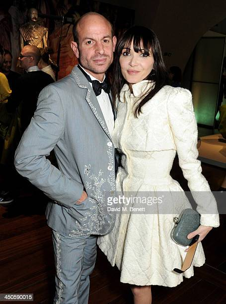 Stefan Bartlett and Annabelle Neilson attend the private view of Isabella Blow Fashion Galore a new Somerset House exhibition at Somerset House on...
