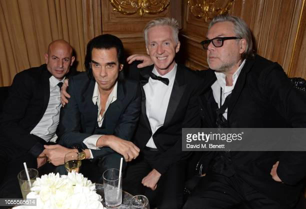 Stefan Bartlett Nick Cave Philip Treacy and David Downton attend the Harper's Bazaar Women Of The Year Awards 2018 in partnership with Michael Kors...