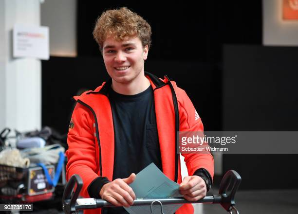 Stefan Baumeister smiles during the 2018 PyeongChang Olympic Games German Team kit handover at Postpalast on January 22 2018 in Munich Germany