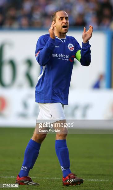 Stefan Beinlich of Rostock in action during the Second Bundesliga match between Hansa Rostock and 1860 Munich at the Ostsee stadium on December 10,...