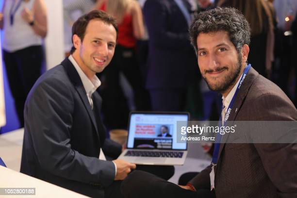Stefan Betzold Managing Director Digital Bild Group and Taboola founder and chief executive Adam Singolda attend the Digital Marketing Expo...