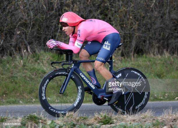 Stefan Bissegger of Switzerland and EF Education - Nippo during stage 3, an individual time trial of 14,4km around Gien, during the 78th Paris-Nice...