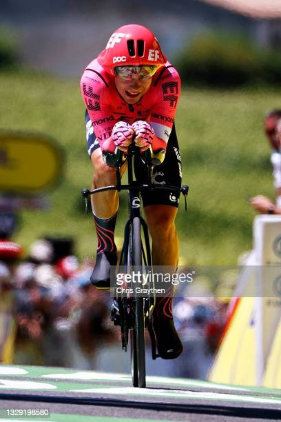 Stefan Bissegger of Switzerland and Team EF Education - Nippo at arrival during the 108th Tour de France 2021, Stage 20 a 30,8km Individual Time...