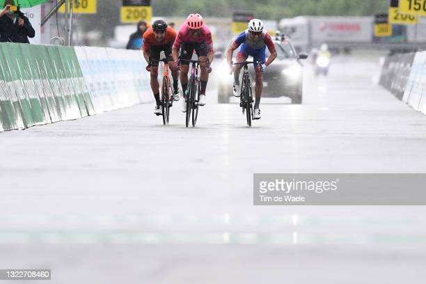 Stefan Bissegger of Switzerland and Team EF Education - Nippo, Benjamin Thomas of France and Team Groupama - FDJ & Joey Rosskopf of United States and...
