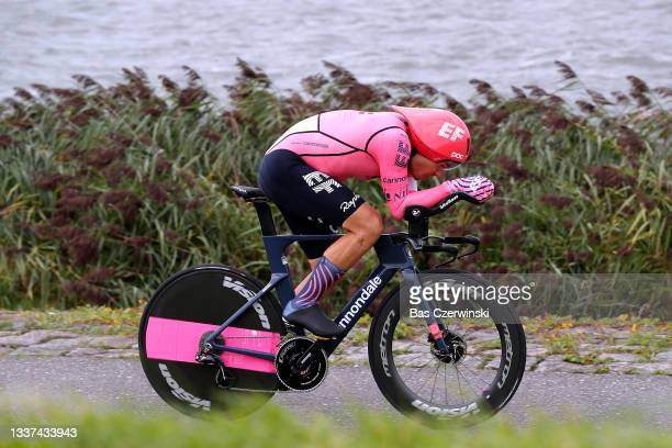 Stefan Bissegger of Switzerland and Team EF Education - Nippo competes during the 17th Benelux Tour 2021, Stage 2 a 11,1km Individual Time Trial...