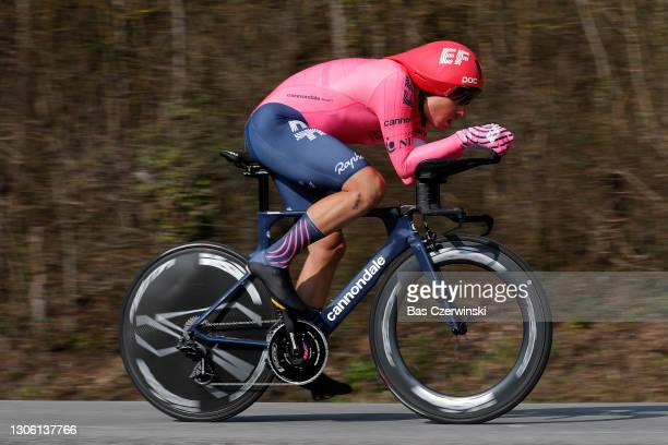 Stefan Bissegger of Switzerland and Team EF Education - Nippo during the 79th Paris - Nice 2021, Stage 3 a 14,4km Individual Time Trial stage from...