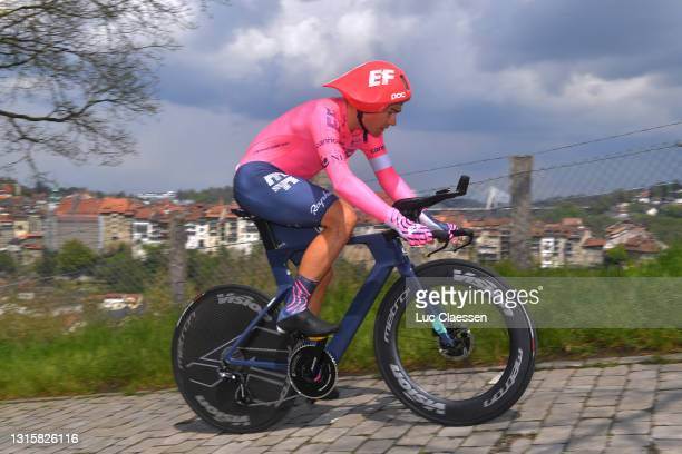 Stefan Bissegger of Switzerland and Team EF Education - Nippo during the 74th Tour De Romandie 2021, Stage 5 a 16,19km Individual Time Trial stage...