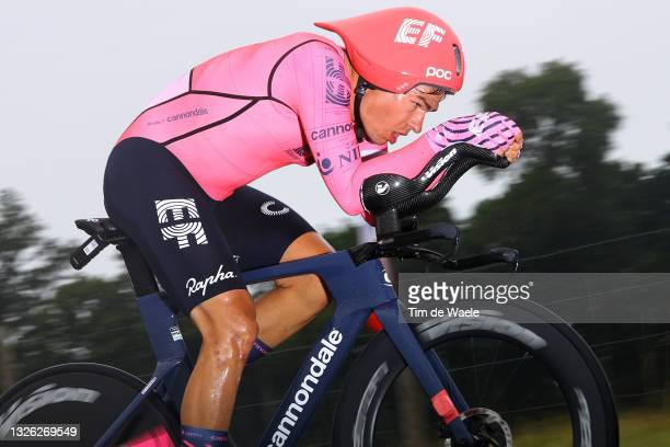 Stefan Bissegger of Switzerland and Team EF Education - Nippo during the 108th Tour de France 2021, Stage 5 a 27,2km Individual Time Trial stage from...