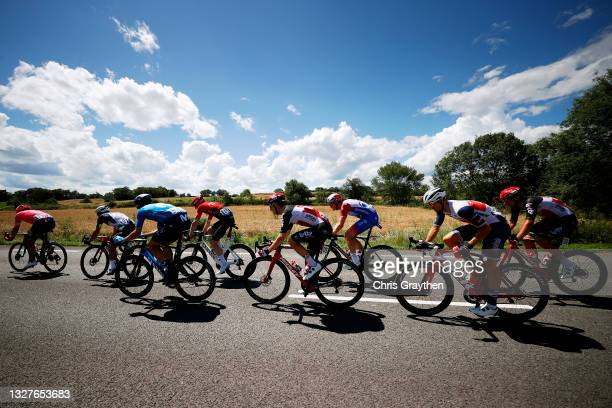 Stefan Bissegger of Switzerland and Team EF Education - Nippo, Sergio Henao of Colombia and Team Qhubeka NextHash, Imanol Erviti of Spain and...