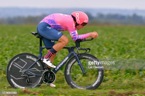 Stefan Bissegger of Switzerland and Team EF Pro Cycling / during the 16th BinckBank Tour 2020, Stage 4 a 8,14km Individual Time Trial from Riemst to...