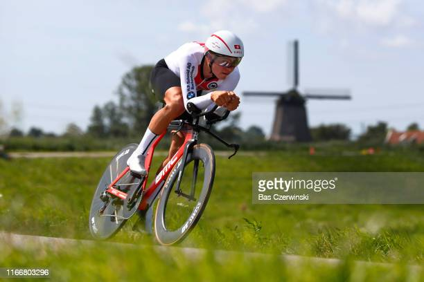 Stefan Bissegger of Switzerland / during the 25th UEC Road European Championships 2019 - U23 Men's Time Trial a 22,4km Individual Time Trial race...