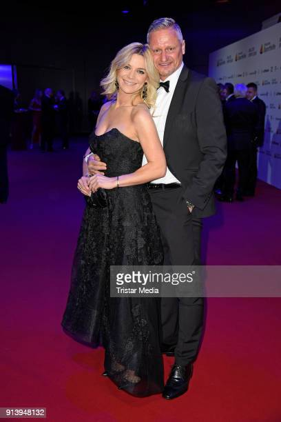 Stefan Bloecher and his girlfriend Anna Posch attend the German Sports Gala 'Ball Des Sports' 2018 on February 3 2018 in Wiesbaden Germany