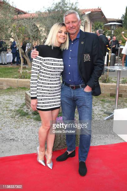 Stefan Bloecher and his girlfriend Anna Posch during the FCR EAGLES Masters Toscana golf tournament Dinner of FalkRaudies FCR Immobilien AG at Hotel...