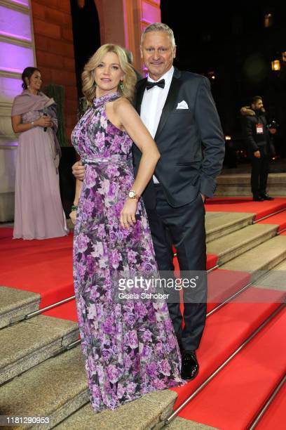 Stefan Bloecher and his girlfriend Anna Posch during the German Sports Media Ball at Alte Oper on November 9 2019 in Frankfurt am Main Germany