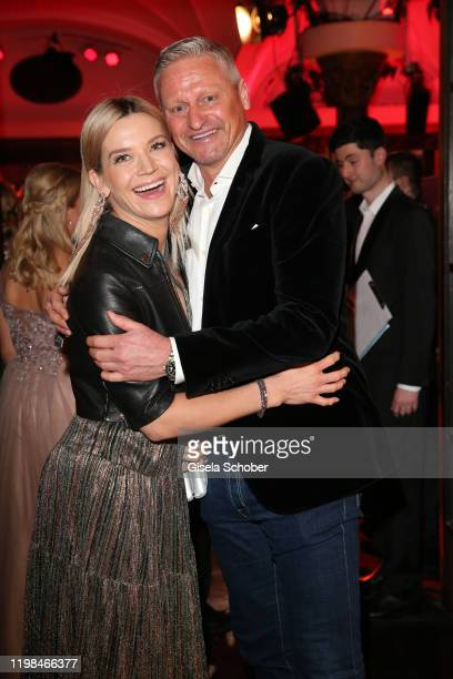 Stefan Bloecher and his girlfriend Anna Posch during the Lambertz Monday Night 2020 Wild Chocolate Party on February 3 2020 in Cologne Germany