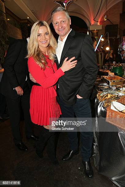 Stefan Bloecher and his girlfriend Anna Posch during the Lambertz Monday Night 2017 at Alter Wartesaal on January 30 2017 in Cologne Germany