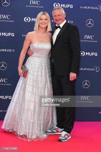 Stefan Bloecher and his girlfriend Anna Posch during the Laureus World Sports Awards 2019 at Monte Carlo Sporting Club on February 18 2019 in Monte...