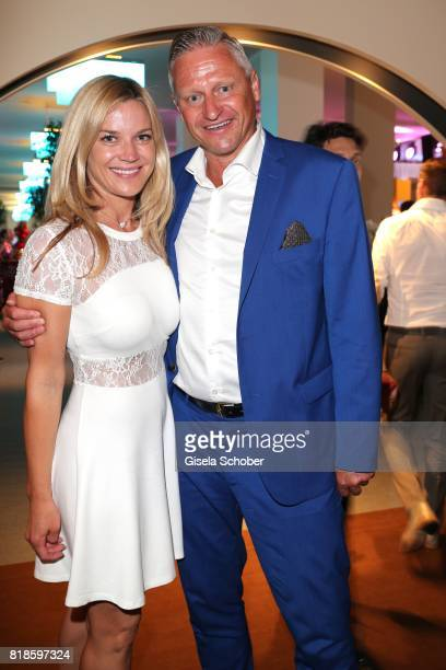 Stefan Bloecher and his girlfriend Anna Posch during the media night of the CHIO 2017 on July 18 2017 in Aachen Germany