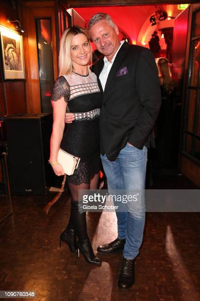 Stefan Bloecher and his girlfriend Anna Posch during the Rockin' Chocolate Lambertz Monday Night 2019 on January 28 2019 in Cologne Germany