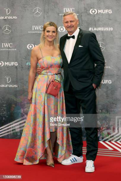 Stefan Bloecher and his partner Anna Posch attend the 2020 Laureus World Sports Awards at Verti Music Hall on February 17 2020 in Berlin Germany