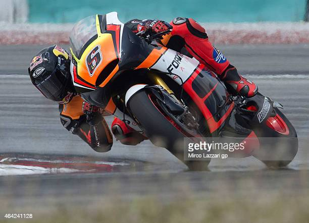 Stefan Bradl of Germany and Forward Racing rounds the bend during the MotoGP Tests in Sepang Day One at Sepang Circuit on February 23 2015 in Kuala...