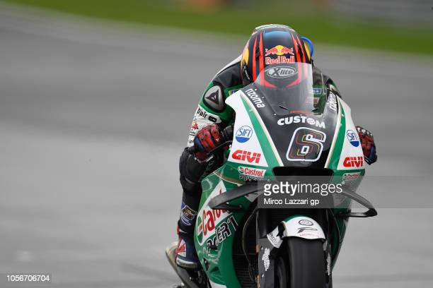 Stefan Bradl of Germany and HRC Honda Team heads down a straight during the qualifying practice during the MotoGP Of Malaysia Qualifying at Sepang...