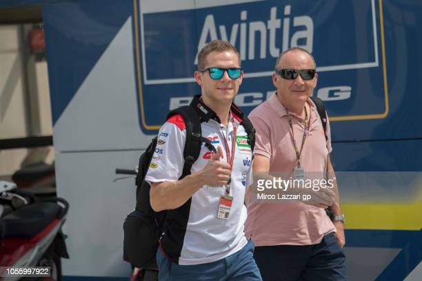 Stefan Bradl of Germany and HRC Honda Team in the paddock during the MotoGP Of Malaysia Previews at Sepang Circuit on November 1 2018 in Kuala Lumpur...