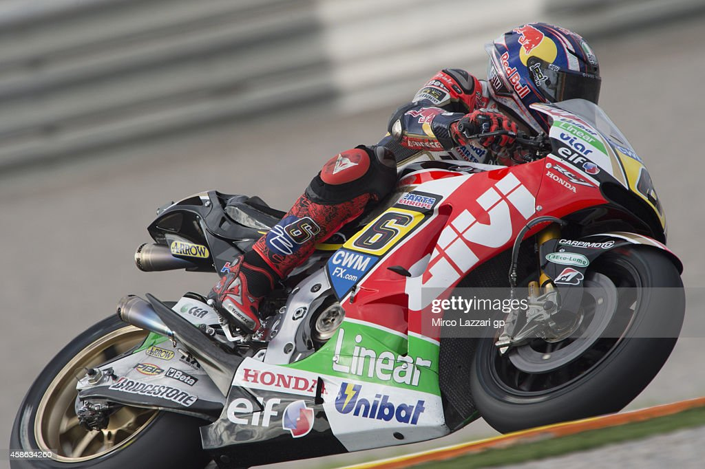 Stefan Bradl of Germany and LCR Honda MotoGP rounds the bend during the MotoGP of Valencia - Qualifying at Ricardo Tormo Circuit on November 8, 2014 in Valencia, Spain.