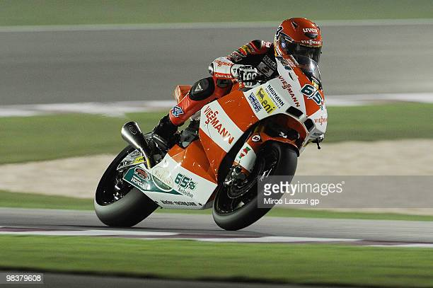 Stefan Bradl of Germany and Viessmann Kiefer Racing heads down a straight during the second day of testing ahead of the Qatar Grand Prix at Losail...
