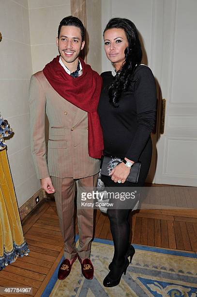 Stefan D'Angieri and SAR Princess Kasia Al Thani attend the 'The Children for Peace' Gala at Cercle Interallie on February 7 2014 in Paris France