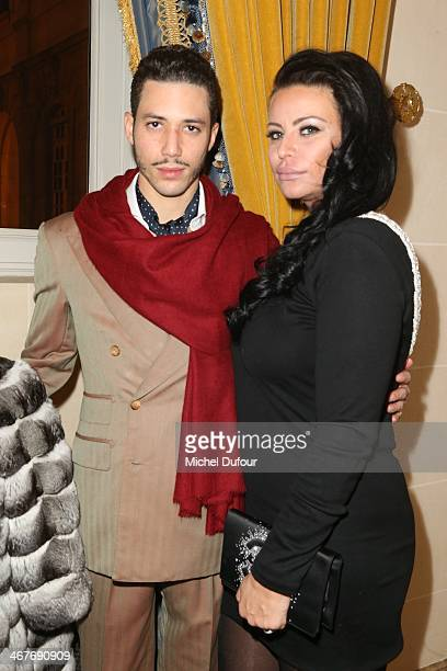 Stefan D'Angieri and SAR Princesse Kasia Al Thani attend 'The Children for Peace' Gala At Cercle Interallie In Paris at Cercle Interallie on February...