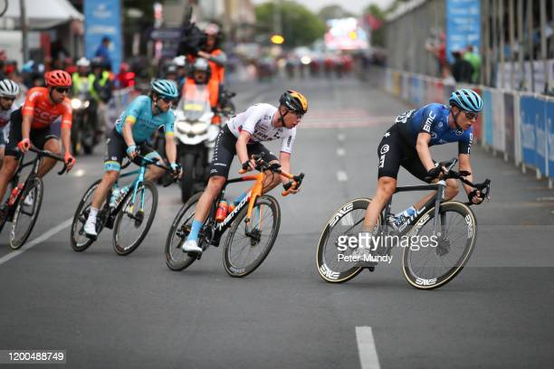 Stefan De Bod of South Africa of NTT Pro Cycling leads the breakaway group at Schwalbe Classic at the Santos Tour Down Under on January 19, 2020 in...