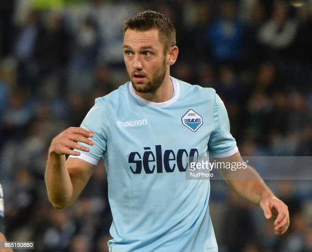 Stefan de Vrij during the Italian Serie A football match between SS Lazio and Cagliari at the Olympic Stadium in Rome on october 22 2017