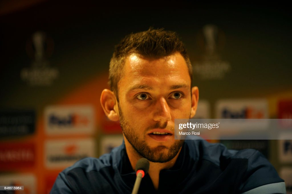 Stefan De Vrij during the SS Lazio Press Conference on September 13, 2017 in Arnhem, Netherlands.