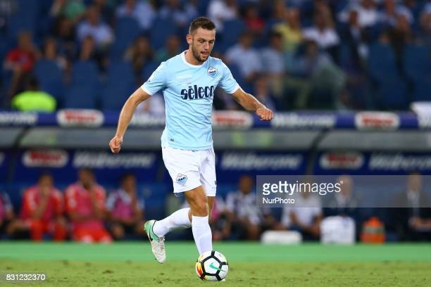 Stefan de Vrij of Lazio during the Italian Supercup match between Juventus and SS Lazio at Stadio Olimpico on August 13 2017 in Rome Italy