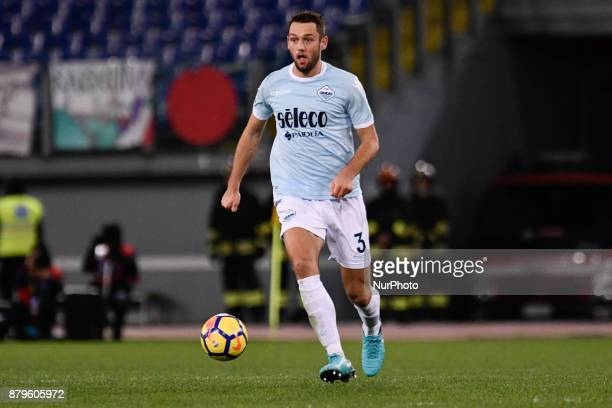 Stefan de Vrij of Lazio during the Serie A match between Lazio and Fiorentina at Olympic Stadium Roma Italy on 26 November 2017