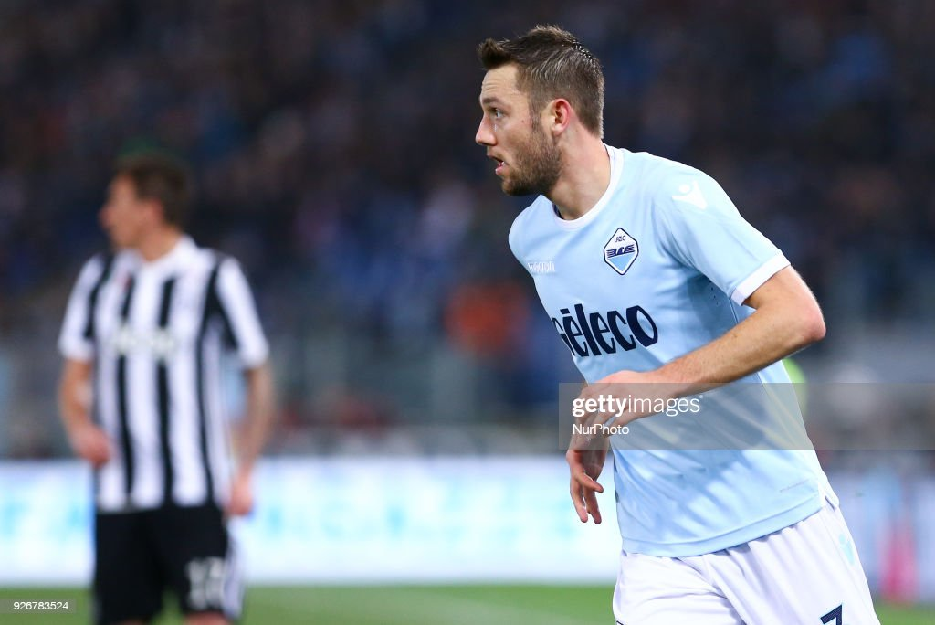 Stefan de Vrij of Lazio during the Serie A match between Lazio and Juventus at Olympic Stadium, Roma, Italy on 03 March 2018.