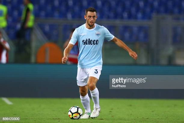 Stefan de Vrij of Lazio during the Serie A match between SS Lazio and Spal at Olimpico Stadium on August 20 2017 in Rome Italy